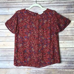 Cloud Chaser Paisley/Floral Top M